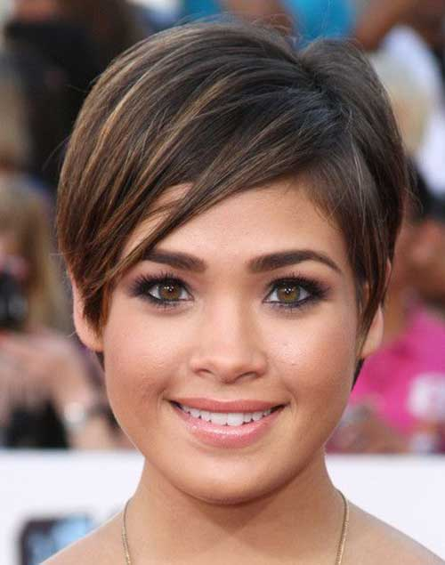 Nicole Gale Anderson Pixie Hair for Round Face