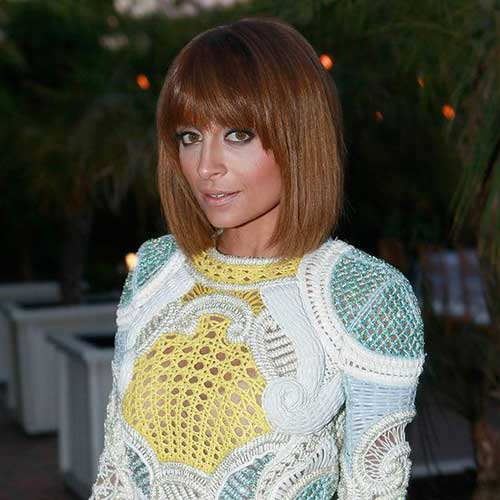 Cool Nicole Richie Straight Bob with Bangs