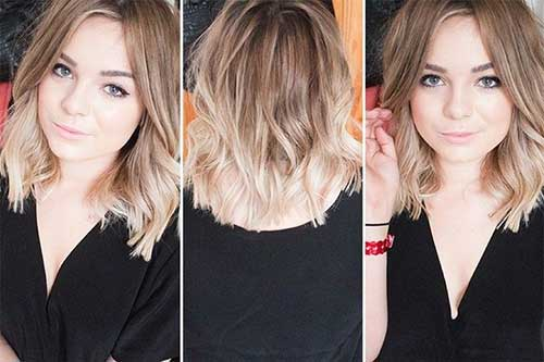Ombre Bob Haircuts for Wavy Thin Hairstyles