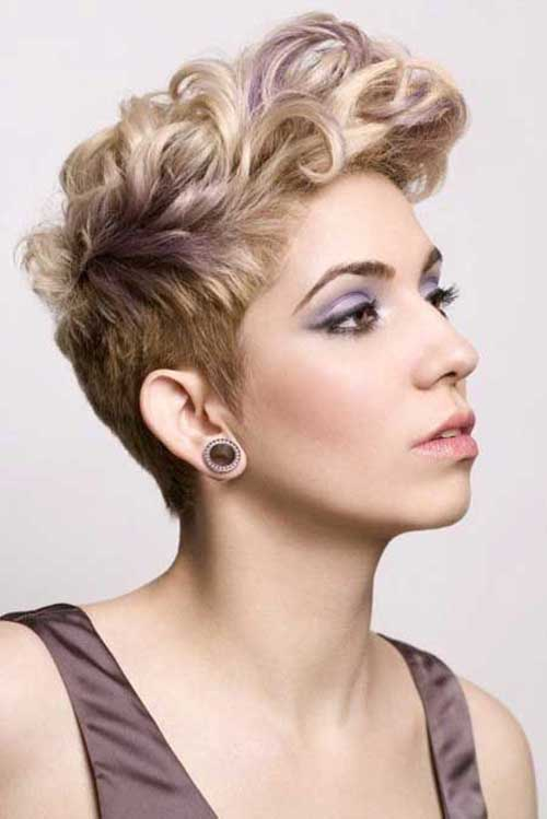 Pixie Curly Short Hairstyle 2014