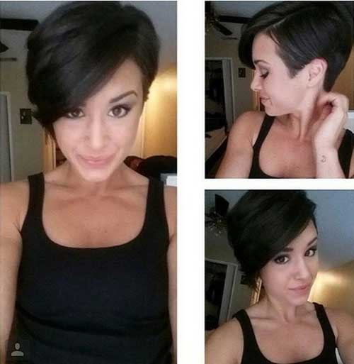 Dark Pixie Haircuts 2014