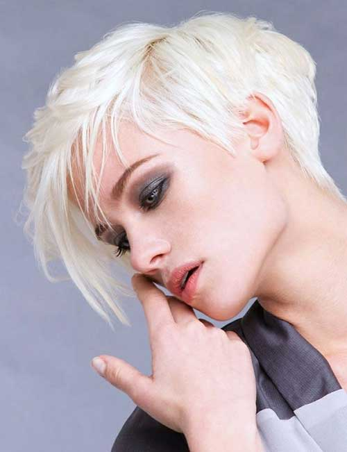 Platinum Blonde Pixie Hairstyles 2014
