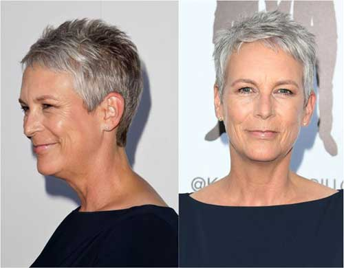Grey Pixie Hairstyles for Over 50
