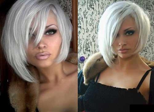 Platinum Blonde Short Straight Haircuts