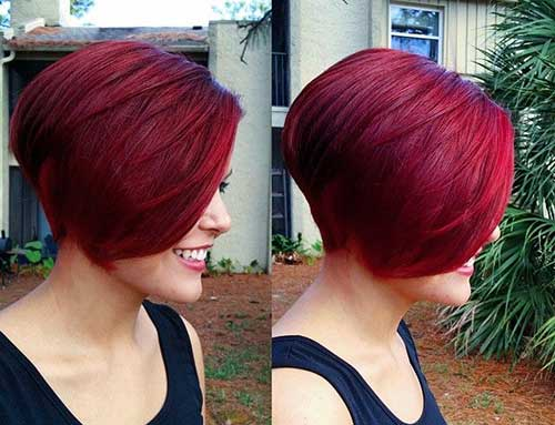 Red Short Haircut For 2015
