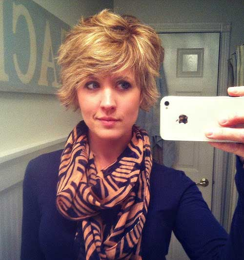 Shaggy Cut Wavy Curly Short Hairstyles