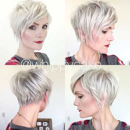 Shaggy Blonde Pixie Cuts