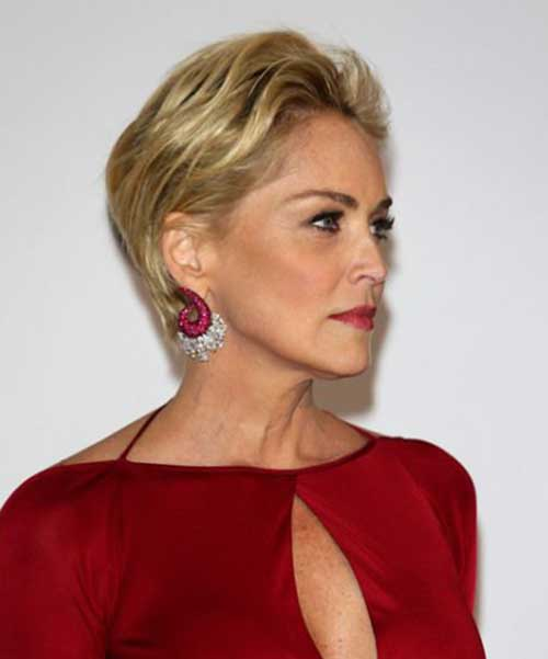 Sharon Stone Pixie Haircuts for Over 50