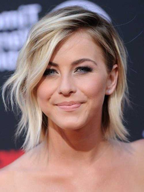 Short Choppy Bob with Side Swept Bangs