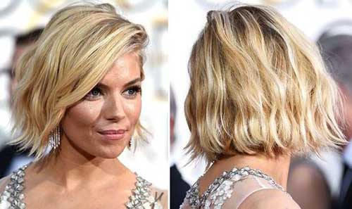 Short Edgy Wavy Bob Haircuts