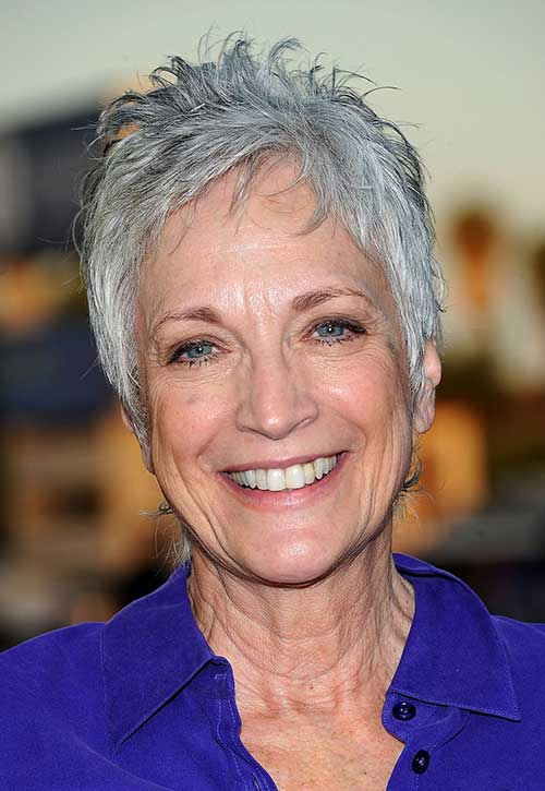 Short Grey Pixie Hairstyles for Over 50
