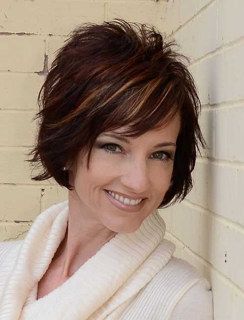 Short Dark Hair for Women Over 40