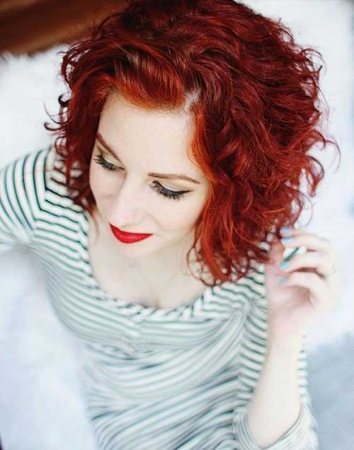 Short Haircuts Curly Red Hair 2014