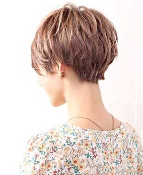 Short Haircut With Layers Back View