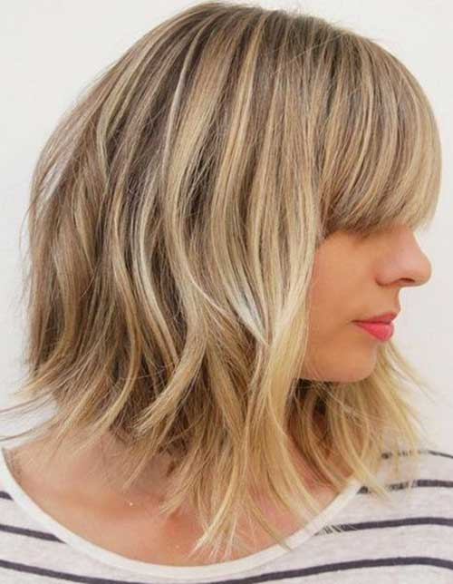 Short Layered Blonde Haircut