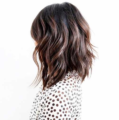 Short Layered Wavy Lob Hairstyles