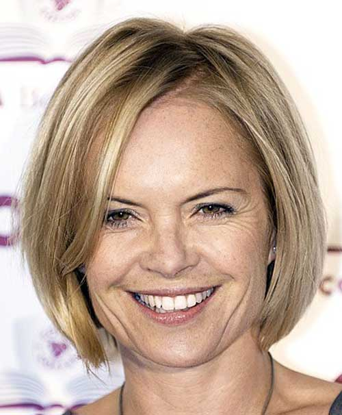 Best Short Line Bob Haircuts for Older Ladies