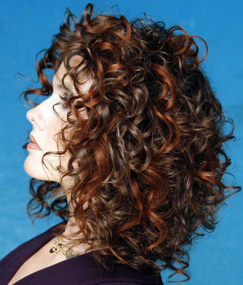 Short Medium Haircuts Curly Thick Hair Type