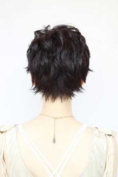 Short Messy Pixie Back View