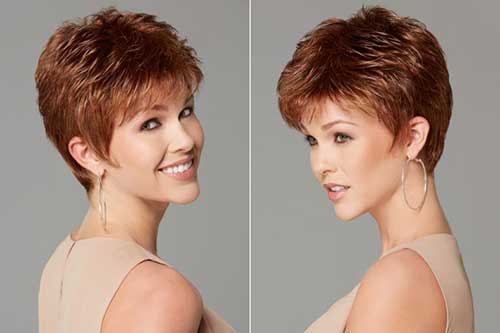 Short Pixie Brown Hairstyles for Over 50