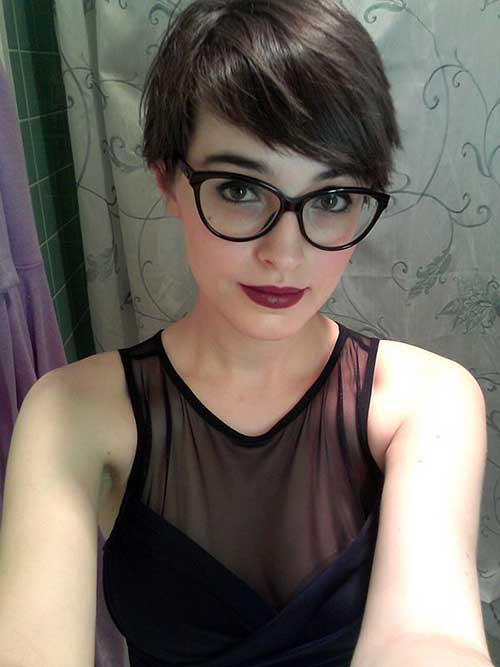 Short Pixie Haircuts with Glasses