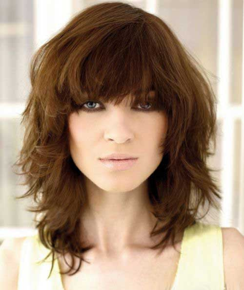 Short Soft Curly Hair with Bangs