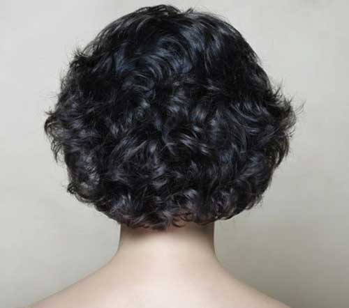 Short Thick Curly Hairstyles Back View