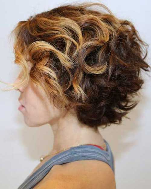 Short Thick Curly Hairstyles Side View