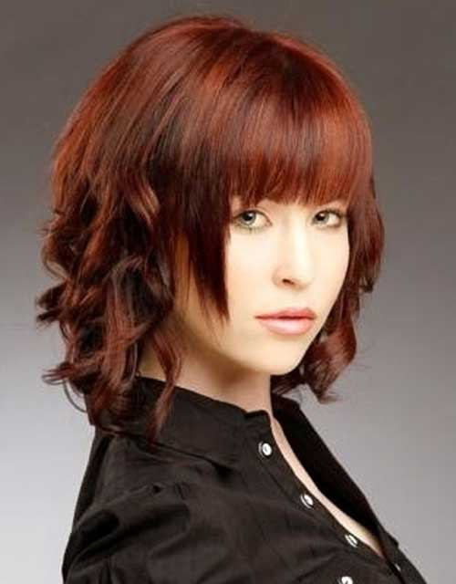Short Wavy Curly Red Hairstyles