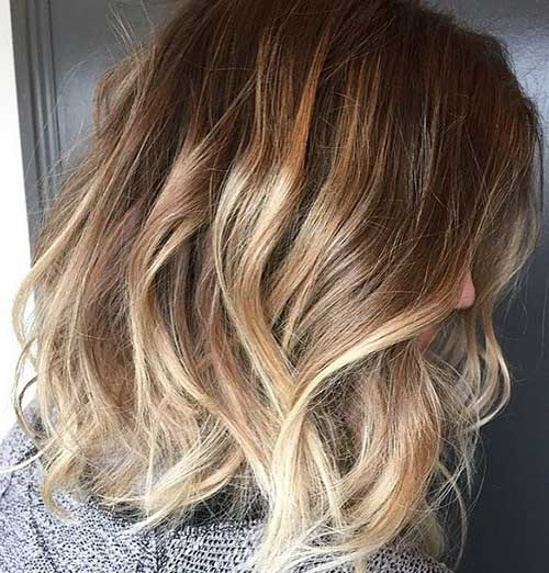 Short Wavy Ombre Hair 2014