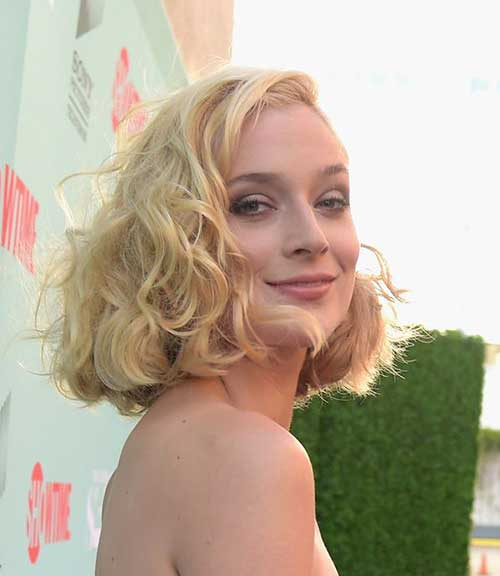 Side Swept Curly Short Hairstyles 2014