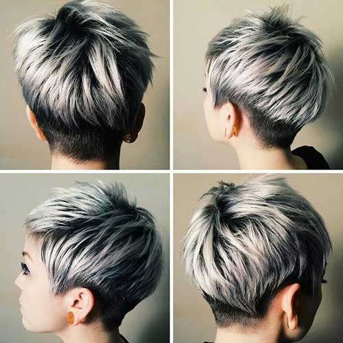 Silver Highlights Short Pixie Cuts