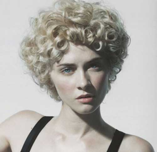 Thick Short Curly Blonde Natural Hairstyles