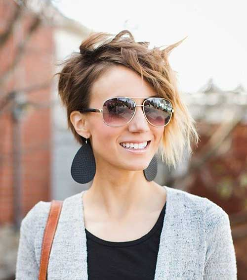 Trendy Asymmetrical Pixie Haircut