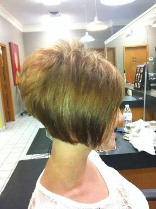 Stacked Short Layered Bob Hairstyles 16