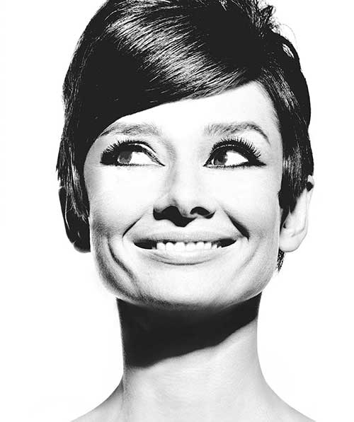 Audrey Hepburn Slicked Pixie Cuts