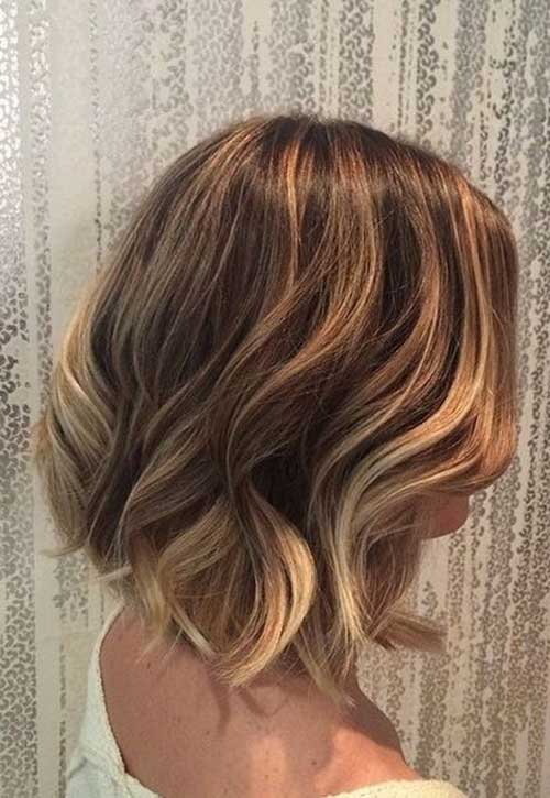 Balyage Ombre Short Wavy Hair