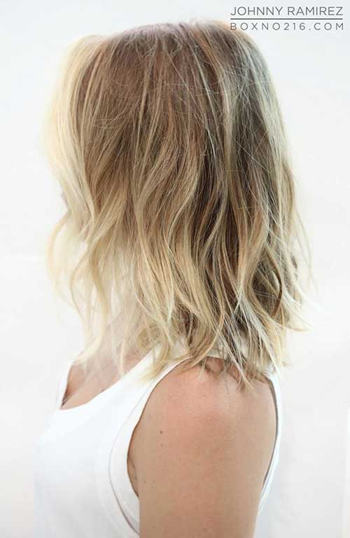 Blonde Ombre Beachy Wavy Short Hairstyles