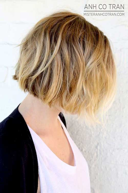 Best Blonde Ombre Short Bob Hair