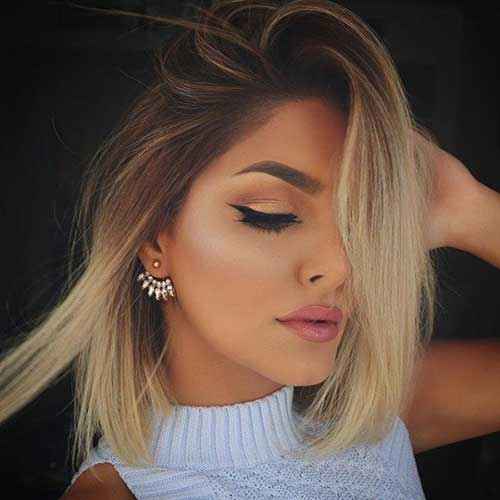 Blonde Ombre Short Hair Color 2015