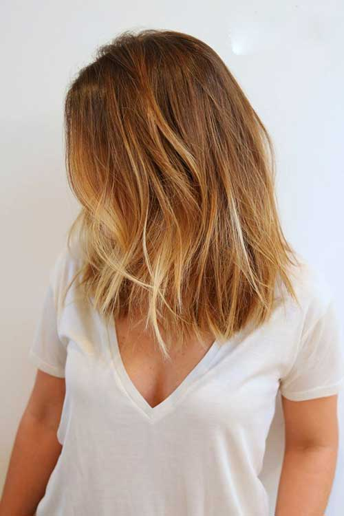 Blonde Ombre with Balyage for Short Haircuts