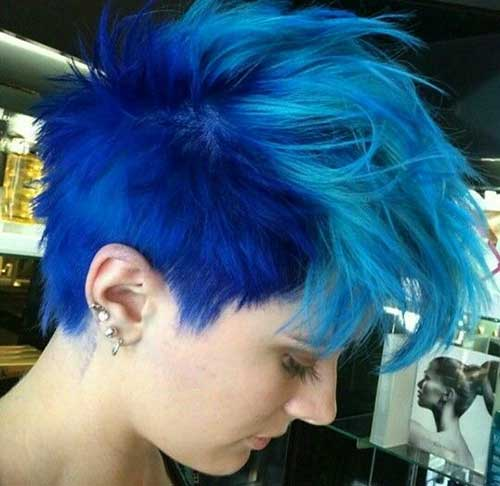 10 New Blue Pixie Cut Short Hairstyles 2018 2019