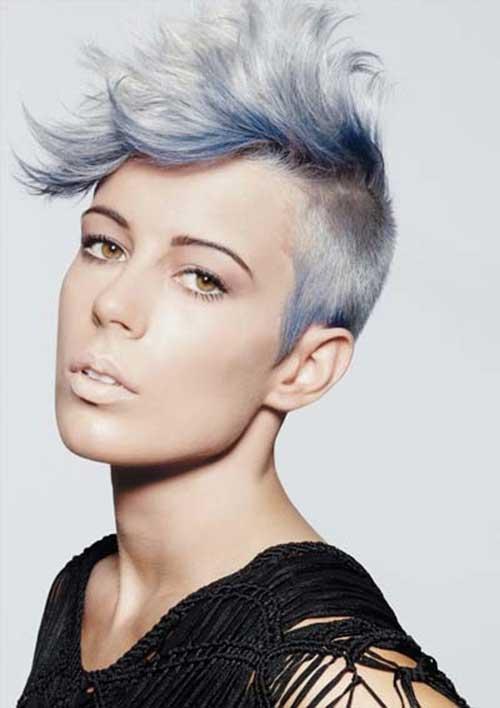 10 New Blue Pixie Cut