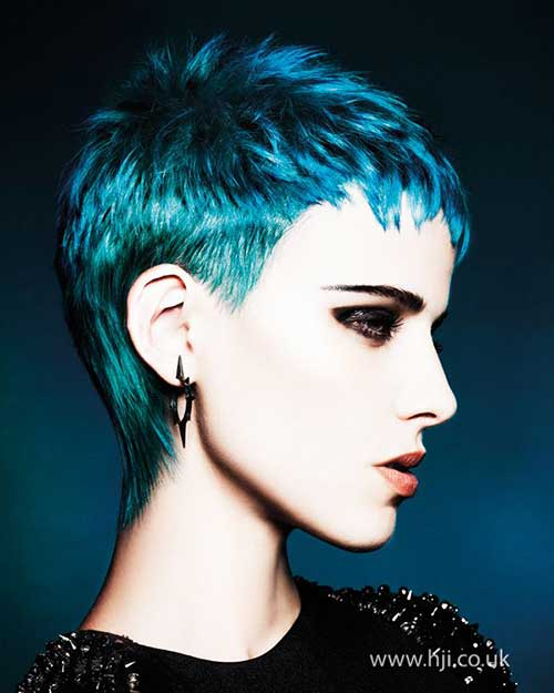 Blue Short Pixie Hairstyles