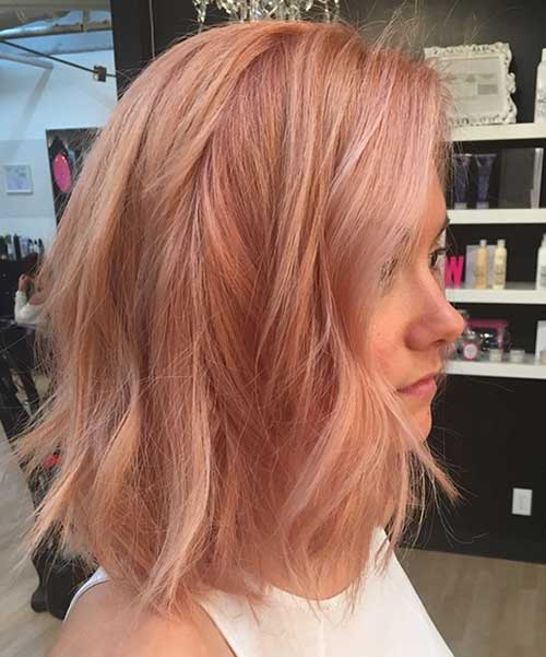 Rose Color Bob Hair Ideas