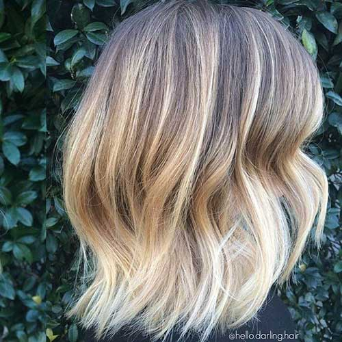 Bob Hairstyles with Blonde Highlighted Color