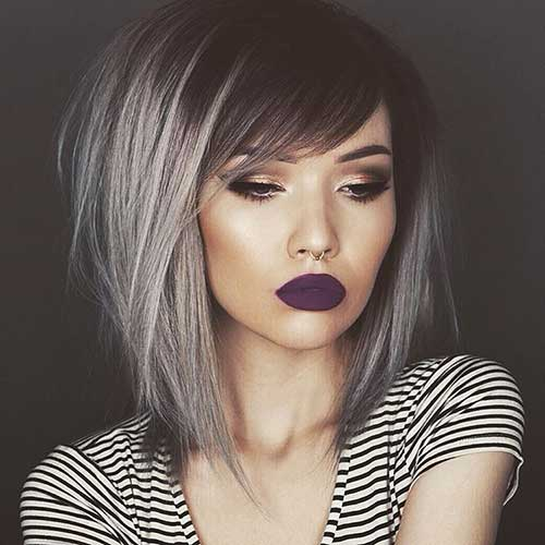 Grey Bob Hairstyles with Color