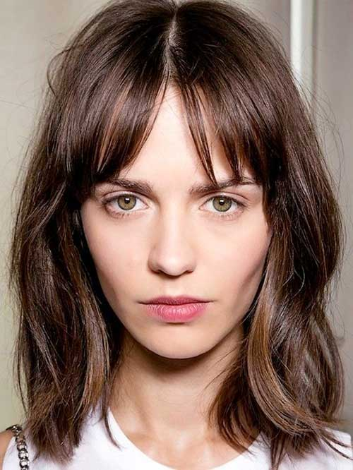 Best Brunette Bob Hairstyles with Bangs