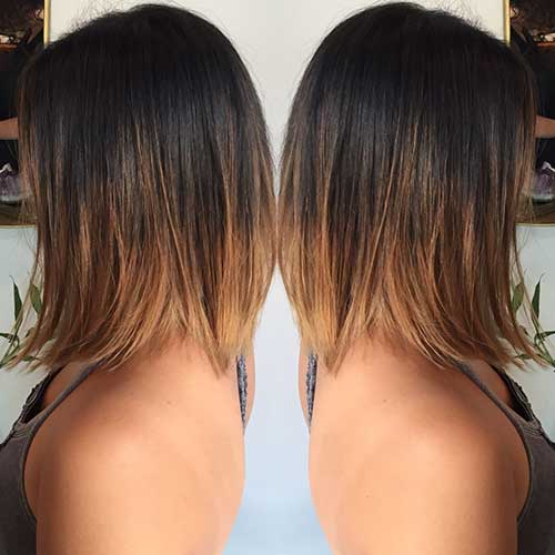 15 popular brunette bob hairstyles short hairstyles 2017 - Long bob ombre ...