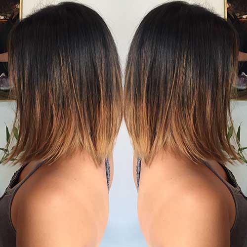 Brunette Ombre Bob Haircuts
